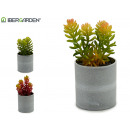 wholesale Artificial Flowers: flowerpot cluster small colors 3 times assorted