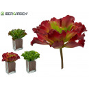 wholesale Artificial Flowers: plant leaves wavy colors 3 times assorted