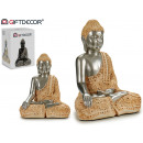 wholesale Figures & Sculptures: Buddha resin reading earth / silver