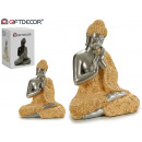 wholesale Figures & Sculptures: buddha resin mantle praying earth / silver