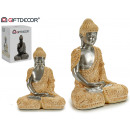 wholesale Figures & Sculptures: buddha resin mantle thinking earth / silver