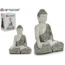 wholesale Figures & Sculptures: Buddha resin reading white / silver