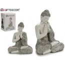 wholesale Figures & Sculptures: buddha resin mantle praying white / silver