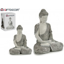 wholesale Figures & Sculptures: buddha resin mantle thinking white / silver