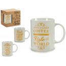 jarra mug coffee oro, modelos 4 veces surtido surt