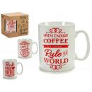 jarra mug coffee rojo gr, modelos 4 veces surtido