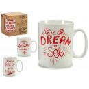 brocca mug dream red big models 4 volte assortiti