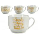 wholesale Cups & Mugs: bowl asa time gold models 4 times assortedup
