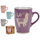 mug jug flame 4 designs assortito
