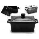 wholesale Pots & Pans: matte black rectangular lid casserole