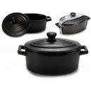 wholesale Household & Kitchen: matte black oval lid casserole