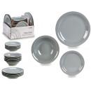 mayorista Casa y cocina: vajilla 18 piezas gres color gris