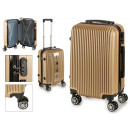 suitcase cabin abs gold vertical lines