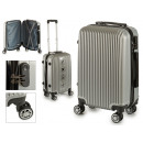 suitcase cabin abs silver lines verticale