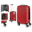 suitcase cabin abs red vertical lines