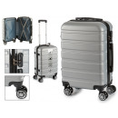 suitcase cabin abs silver stripes horizontal
