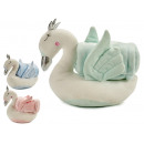 swan plush blancket 75x100, 3 times assorted
