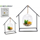 plant pendant fishbowl 5led spike forge