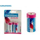 grossiste Batteries et piles: GRUNDIG - blister 2pilasalc c lr14 3000mah