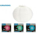 wholesale Illuminants: GRUNDIG - led solar lamp 28cm colors 4 times its
