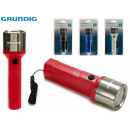 wholesale Wind Lights & Lanterns: GRUNDIG - plastic flashlight 1led 1w4 times assort