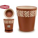 groothandel Bloemenpotten & vazen: plastic pot 30 cm terra-cotta orpheus