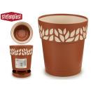 groothandel Bloemenpotten & vazen: plastic pot 15 cm cloe terracotta
