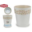 vaso di plastica 25 cm cloe bianco