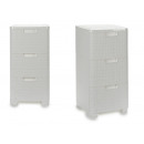 chest of drawers 3 drawers white plastic