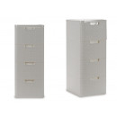 chest of drawers 4 drawers white plastic