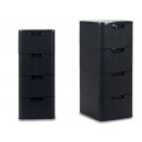 chest of drawers 4 drawers anthracite plastic