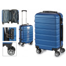 suitcase cabin abs blue stripes horizontal