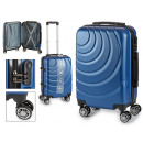suitcase cabin abs blue waves circles