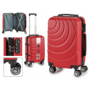 wholesale Bags & Travel accessories: suitcase cabin abs red waves circle