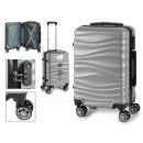 suitcase cabin abs silver waves
