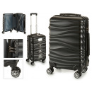 suitcase cabin abs black waves