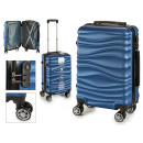 suitcase cabin abs blue waves