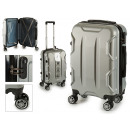 suitcase cabin abs silver shapes
