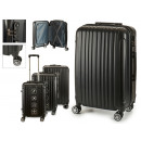 wholesale Bags & Travel accessories: set of 3 suitcases abs black vertical stripes