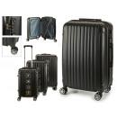 Großhandel Taschen & Reiseartikel: Set mit 3 Koffern mit schwarzen vertikalen Streife
