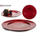 center table decoration plastic smooth red