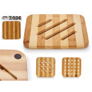 wholesale Table Linen: square bamboo table mat 2col 19x19cm, 4 times s