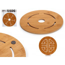 round bamboo table mat diameter 22cm, 4 times s