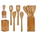 set of 4 bamboo kitchen utensils supports quadr