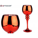 red crystal candle holder