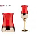 nagyker Gyertyák és gyertyatartók: nagy arany és piros üveg csésze