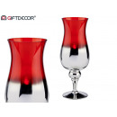 wholesale Drinking Glasses:silver and red glass cup