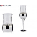 wholesale Drinking Glasses: large silver and transparent glass cup