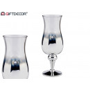wholesale Drinking Glasses: silver and transparent glass cup