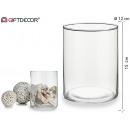 wholesale Flowerpots & Vases: low cylindrical glass vase